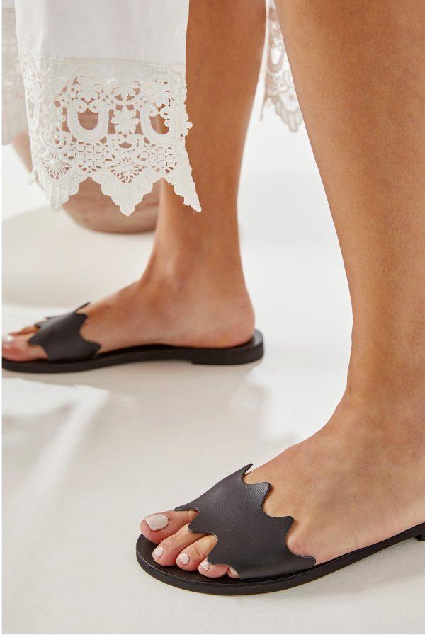 Open Toe Black Sandal