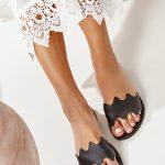 Black Ancient Greek Sandals