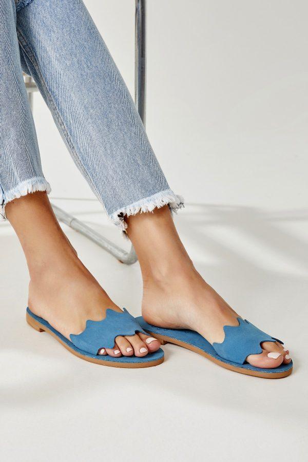 Blue Sandals Woman