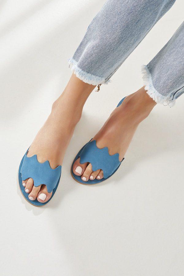 Flat Summer Shoe Blue