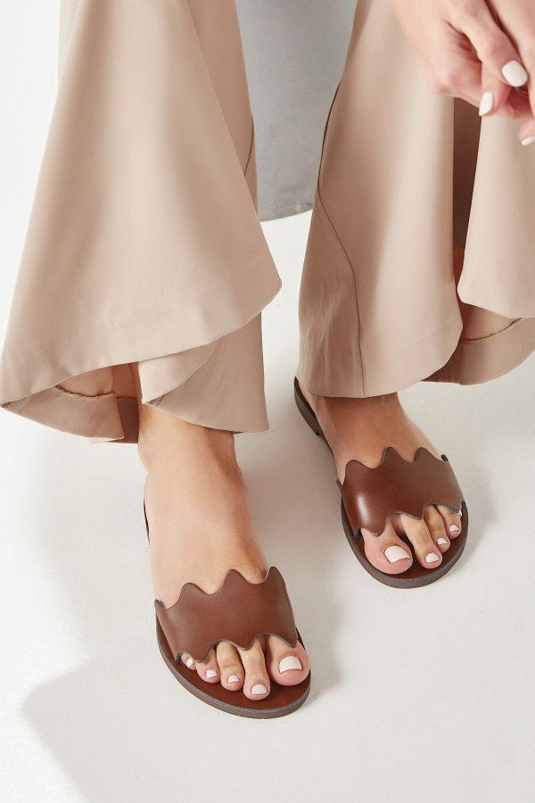 Women's Brown Flat Sandals