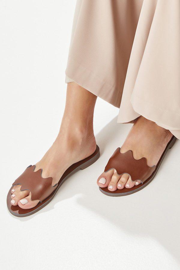 Slide Leather Sandals