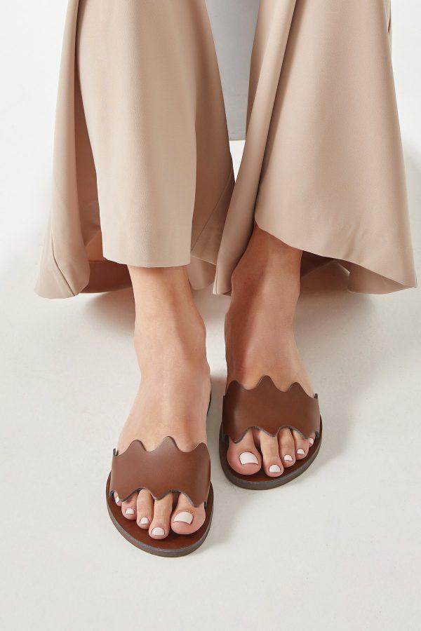 Greek Leather Sandals Brown