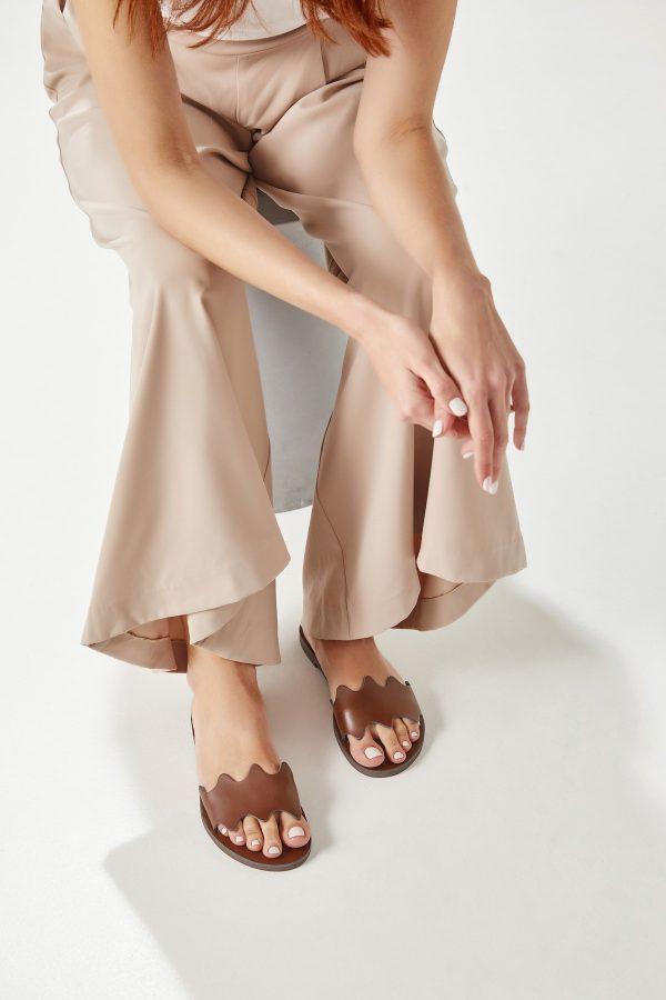 Brown Flat Sandal Woman