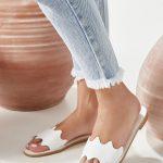 Flat Sandals White Women