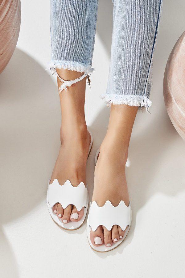 White Flat Shoe Woman