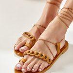 Brown Gladiator Shoes Women