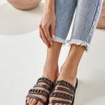 Women Leather Slides