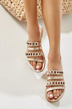 Women Sandals Gold