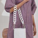 White Bucket Bag Woman