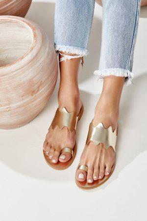 Leather Sandal Gold