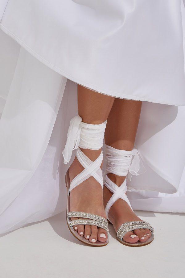 Wedding Sandals with Rhinestones