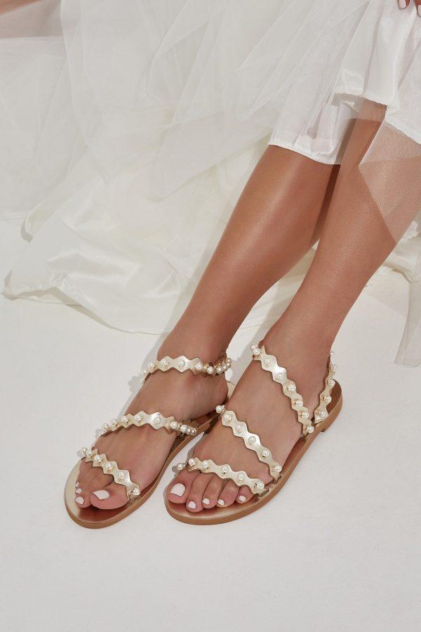 Handmade Bridal Shoes Gold