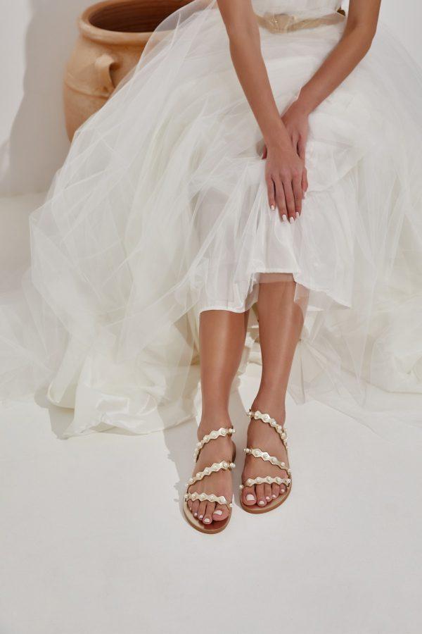 Pearl Wedding Sandals Gold