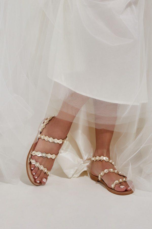Gold Sandals for Bride