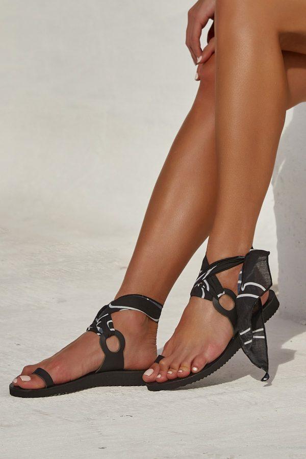 """""""Le Fut"""" Sandals in Black - GCH x TheKnls"""